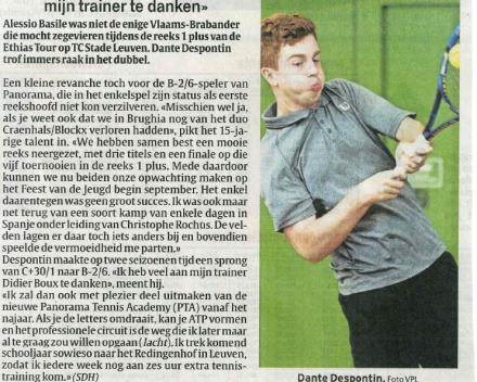 """Dante Despontin: """"Veel aan mijn trainer te danken"""""""