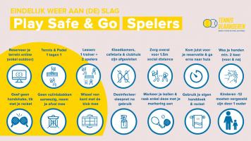 Volg de 'Play Safe & Go'-regels en ga opnieuw aan de slag vanaf 4 mei!